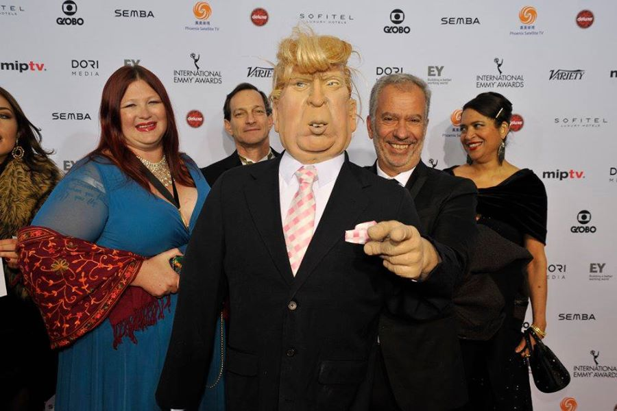 Puppet Nation team, Thierry Cassuto, Karen Jeynes and Donald Trump!